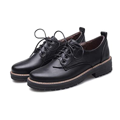 8e5d616ac GIY Women s Martin Wingtip Oxfords Shoes Vintage Lace-up Flat Low Heel  Classic Dress Oxford