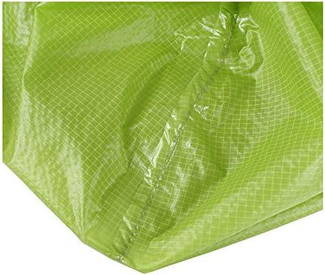 JTWJ Impermeabile da Esterno, Poncho da Zaino in Un Pezzo, Nylon, Antirughe, Riutilizzabile, Leggero (Blu/Arancione/Verde Chiaro) (Colore : Blu) Light Green