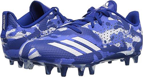 Adidas Star - adidas Unisex Adizero 5-Star 7.0 Football Shoe, White/Collegiate Royal/hi-res Blue, 5 M US Big Kid