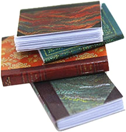 4pcs//set 1//12 Dollhouse Miniature Mini Books Model Furniture Accessories P1KB