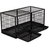 ProSelect Steel Modular Cage with Plastic Tray, Black