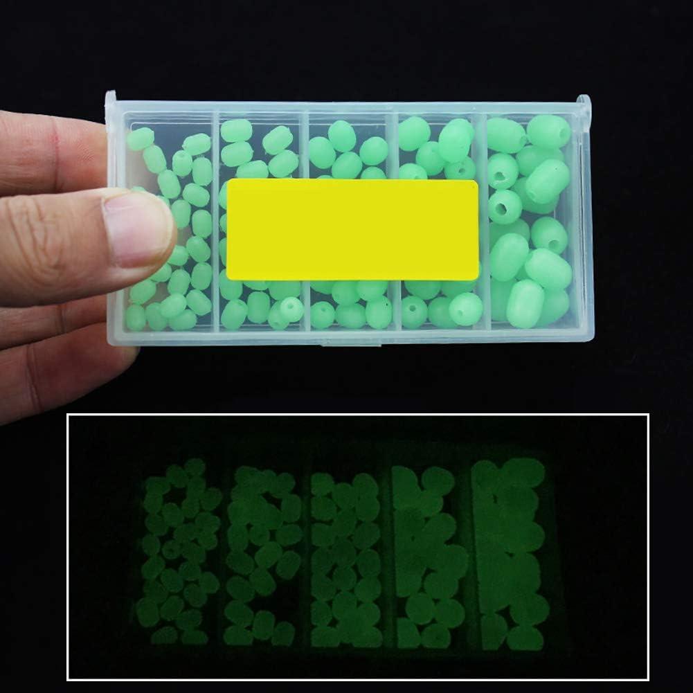 kaakaeu 100 St/ück Fluoreszierende Kugeln zum Angeln von Meereswasser