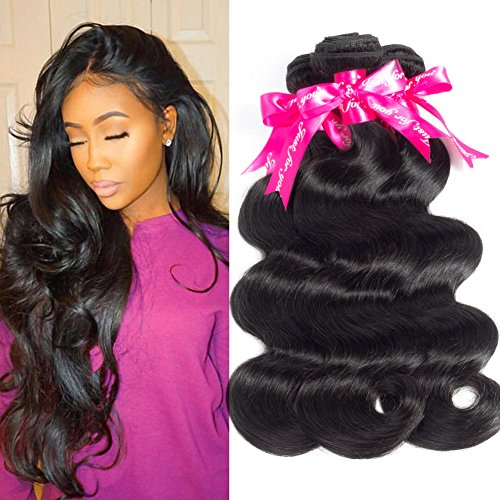 CYNOSURE 8a Malaysian Body Wave Bundles 100% Unprocessed Virgin Human Body Wave Hair Weave Extensions Natural Black Color