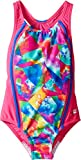 Speedo Girls Tie Dye Sky Sport Splice One Piece Swimsuit, Multicolor, Size 5