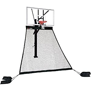 Rolbak Platinum Basketball Return Net with 4 Refillable Water Bags, Webbing Harness, and Nylon Brackets