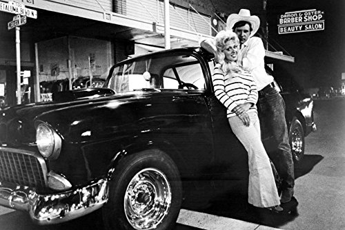 Harrison Ford Debralee Scott American Graffiti Leaning Against classic '55 Chevy 18x24 - Graffiti Harrison American Ford