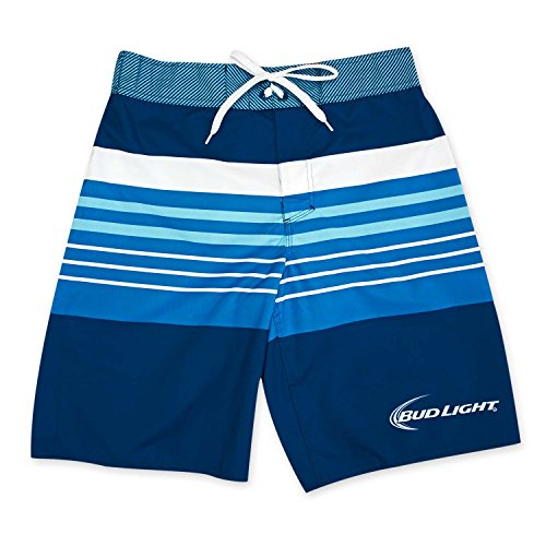 Bud Light Surfer Rugby Board Shorts,Royal Blue (M)