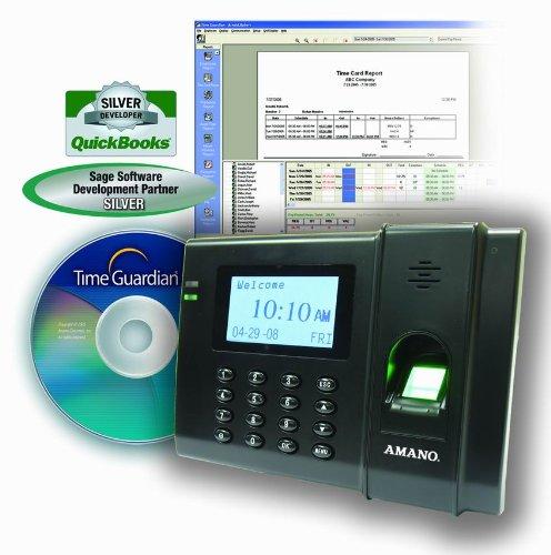 Fingerprint Time Clock System, 120/240V by Amano
