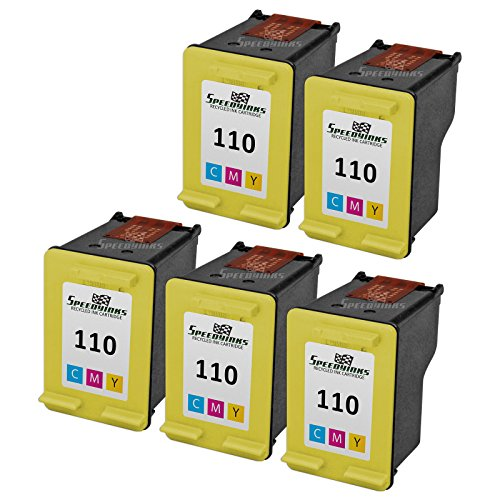 Speedy Inks - 5PK Remanufactured replacement for HP 110 CB304AN Tri Color Ink Cartridge
