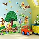 Large Cartoon 3D Bear Tree Wall Sticker Art Vinyl Decals Nursery Decor # 3dp018