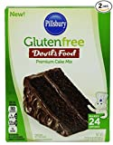 Pillsbury Gluten Free Devil's Food Premium Cake Mix, Makes 24 Cupcakes Each Box, 17 Ounces Each (2 Pack)