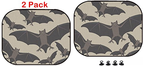 Luxlady Car Sun Shade Protector Block Damaging UV Rays Sunlight Heat for All Vehicles, 2 Pack ID: 44881718 Vector Seamless Halloween Pattern with Bat Repeating Abstract backg for $<!--$17.98-->