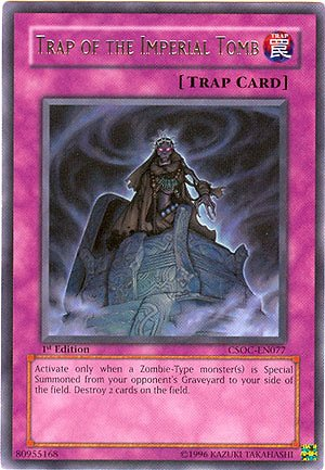 YuGiOh 5D's Crossroads of Chaos Single Card Trap of the Imperial Tomb CSOC-EN...