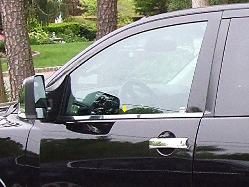2 Pc: Stainless Steel Window Sill Trim - 1.25 wide, King Cab WS24515 QAA FITS TITAN 2004-2015 NISSAN
