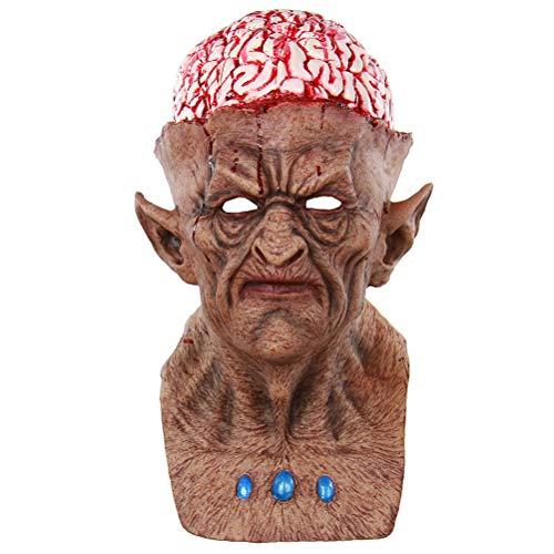 BESTOYARD 血まみれの脳悪魔モンスターゾンビマスクアダルトフルフェイスハロウィンマスク