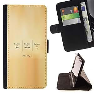 Momo Phone Case / Flip Funda de Cuero Case Cover - VICTOR HUGO - CITA - Sony Xperia M2