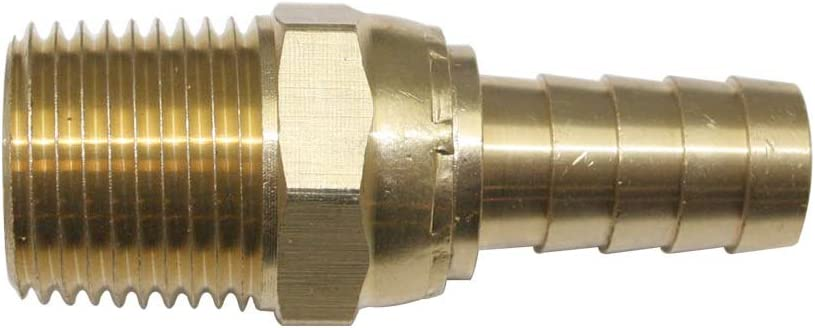 "Easy Lock Brass Hose Fittings Connectors 1//2/""  Push-Lock Barb x 1//2/"" MPT FL188"