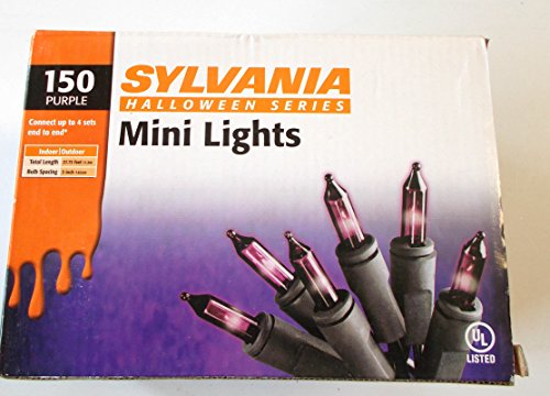 Halloween Sylvania 150 Count Purple Mini Light Lights Set Decor NIP