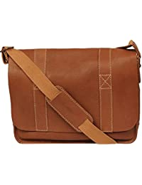 "<span class=""a-offscreen"">[Sponsored]</span>Mens Vacqueta Leather Flap Over Messenger Bag"