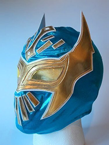 WRESTLING MASK SIN CARA WWE FANCY DRESS UP COSTUME MEXICAN CHILDRENS KIDS CHILD OUTFIT SUIT BRAND NEW BLUE by ASHLEYS -