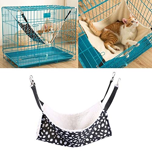 D-World4Pet Cat Hammock - Pet Hammock Hanging Cage Double Side Soft Rest Fur Bed for Small Cats Dogs -