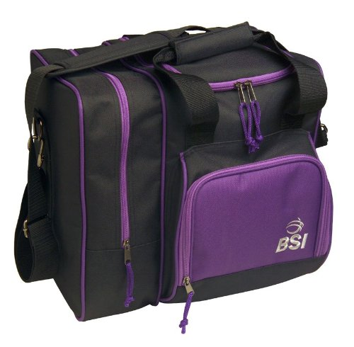 BSI Deluxe Single Ball Tote Bag (Black/Purple)