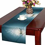 InterestPrint Spiritual Meditation Yoga Magic Lotus Flower Table Runner Cotton Linen Cloth Placemat Home Decor for Home Kitchen Dining Wedding Party 16 x 72 Inches
