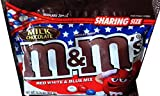 NEW M&M's Red White & Blue Mix 4th Of July Chocolate Candies Resealable Zipper Net Wt 10.70 Oz (Milk Choco, Single Bag)