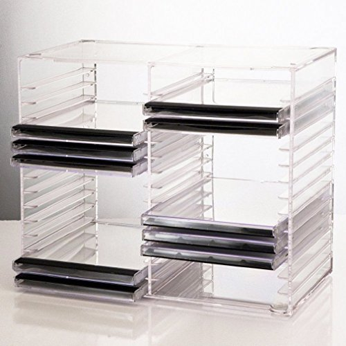 US Acrylic Clear Stackable CD Holder - holds 30 standard CD jewel cases