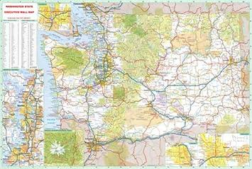 Amazon.com : 36x52 Washington State Official Executive Laminated ...