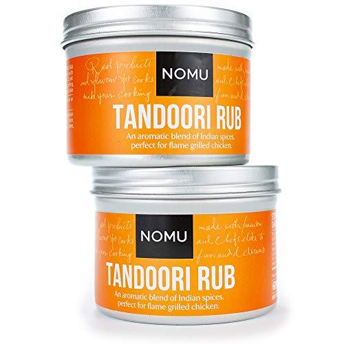 NOMU Tandoori Seasoning Rub (2-Pack | 4.23oz) - Blend of 17 Premium Herbs and Spices - Paleo, Vegan, Non-Irradiated, No MSG or Preservatives