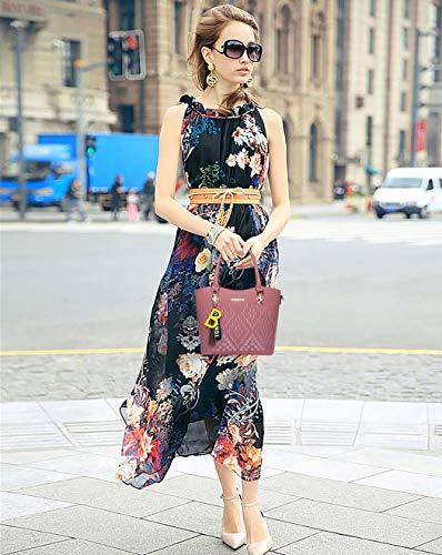 Rose Femme bandoulière épaule main portés Sacs Faux Gris portés Sacs DEERWORD Sacs Cartable Sacs Cuir H6q8RR