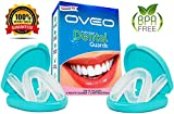 OVEO Bite Guard to Stop Teeth Grinding, TMJ, Bruxism, Clenching - Night Mouth Guard for Grinding Teeth – Pack of 4 Dental Protectors and 2 Anti-Bacterial Cases