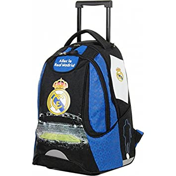 d61ef8bce8 Real Madrid Sac à Dos Roulette Mixte Enfant, Bleu, 47 cm: Amazon.fr ...