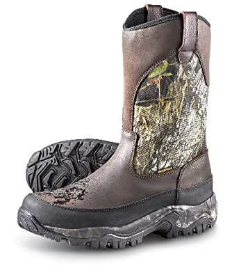 Guide Gear Men's Hunting Pull-On Boots Insulated Waterproof, Mossy Oak, 9.5D