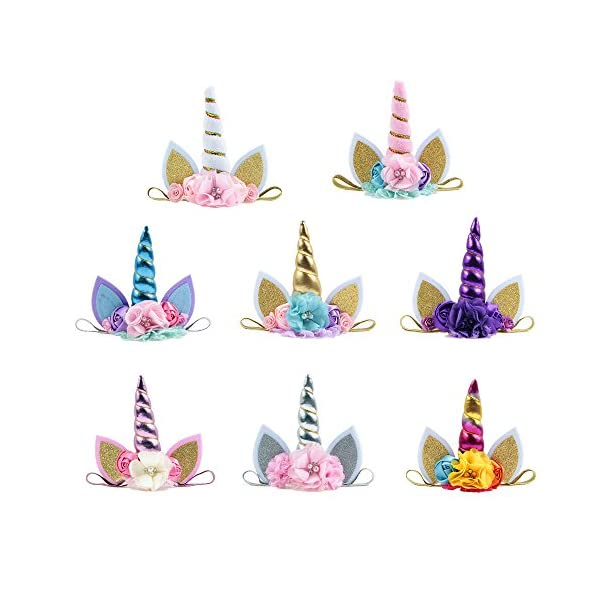 Nishine Baby Elastic Glitter Unicorn Horn Headband Children Unicorn Party Supplies Cosplay Gift 4