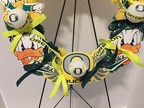 COLLEGE PRIDE - SPIRIT - OU - O - UNIVERSITY OF OREGON - DUCKS - THE OREGON DUCK - DORM DECOR - DORM ROOM - COLLECTOR WREATH - YELLOW AND GREEN CARNATIONS by Peters Partners Design (Image #4)