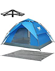 Night Cat Waterproof Camping Tent 2 3 4 Person Instant Pop Up Automatic Dome Holiday Easy Set Up Tent for Outdoor Hiking Double Layer