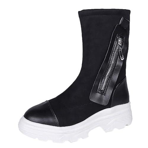Botines de Invierno Mujer, Btruely Zapatos de Trabajo Botas Mujer Tacon Alto Cuero Botines Invierno Zapatos Moda Otoño Invierno Zapatillas Moda Botines ...