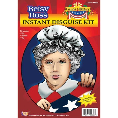 Forum Novelties Hero's in History Betsy Ross Instant Disguise Costume (Wallmart Halloween Costumes)