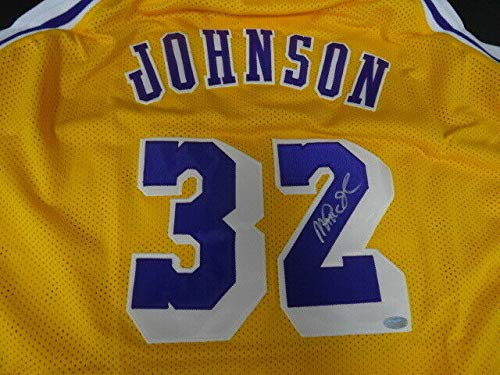 Magic Johnson Autographed Signed Memorabilia Lakers Home Yellow Replica Jersey Autograph Auto Steiner - Certified Authentic