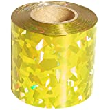Gold Holographic Streamer Roll, 2 inches wide x 100 feet long decorating supplies