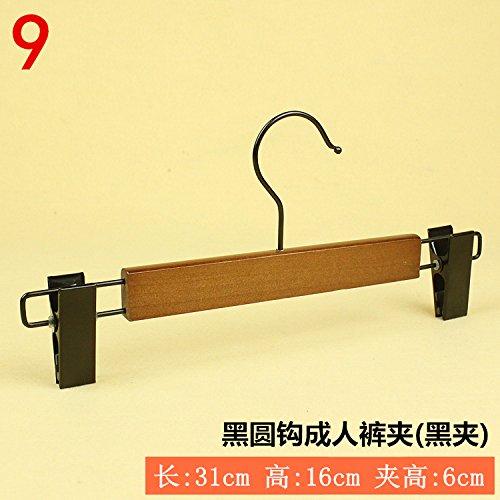 SHRCDC Natural Wood/Hanger 10Pack/Non-Slip(25-44Cm)/Brown/Adult Children/Hotel/Shirt/Pants/Skirt/For Hanger,10,N31Cm