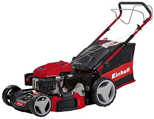 Einhell Benzin Rasenmäher GC-PM 52 S HW (2,8 kW, 173 cm³, Schnittbreite: 52 cm, zentrale Schnitthöhenverstellung: 6 Stufen | 25-70 mm)