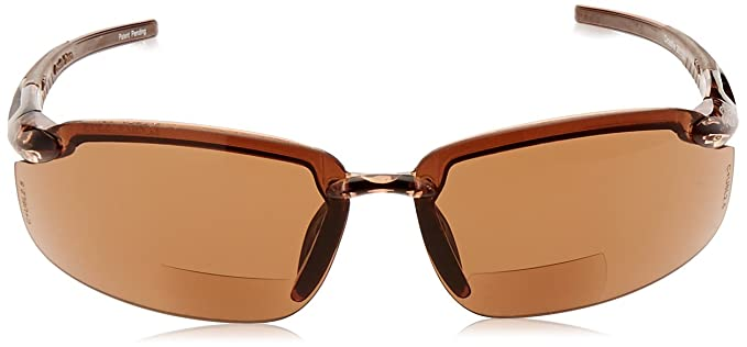 904348ffdb63 ES5 Reader Crossfire Glasses Diopter 2.0 HD Brown Lens Crystal Brown Frame  - Safety Glasses - Amazon.com