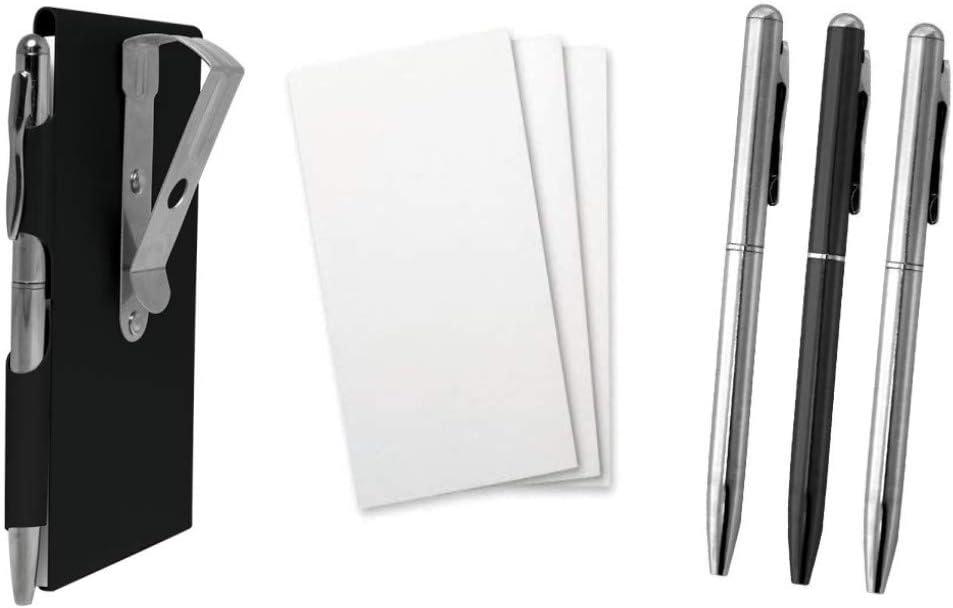 Wellspring Car Visor Notepad Pen Holder Set - Black Visor Note, 3 Memo Pad Refills, and a 3 Mini Pen Refills   Convenient and Safe Memo Pad For Car   No Dashboard Or Windshield Mount Needed