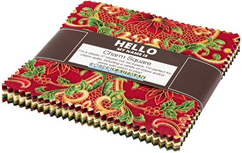 - Peggy Toole Holiday Flourish 12 Holiday Charm Square 42 5-inch Squares Robert Kaufman CHS-785-42