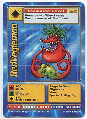 - Digimon Card - RedVegiemon Bo-87 - Champion Level