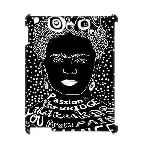 Frida kahlo DIY 3D Cover Case for Ipad2,3,4,Frida kahlo custom 3d cover case