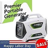 Atima SD1000i 1000 Watt Small Quiet Portable Inverter Generator,...